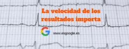 La velocidad de los resultados de búsqueda de Google importa