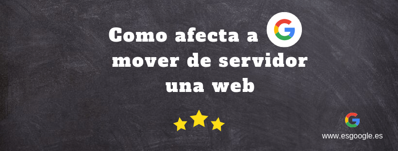 cambiar de servidor web google